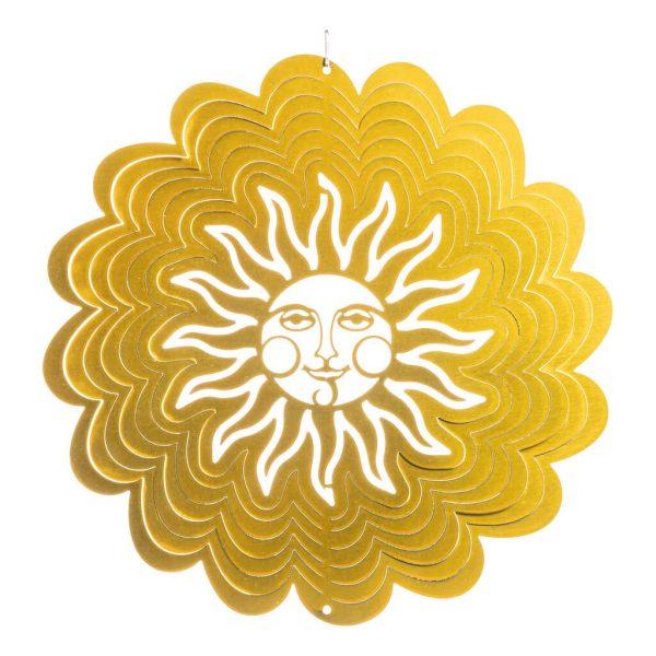 Golden sun wind spinner flat