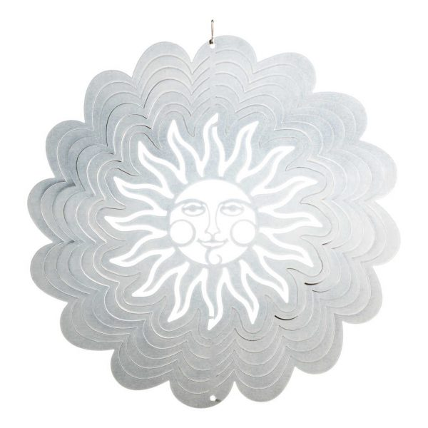 Silver sun wind spinner flat
