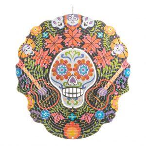 Mexican skull wind spinner 30cm flat