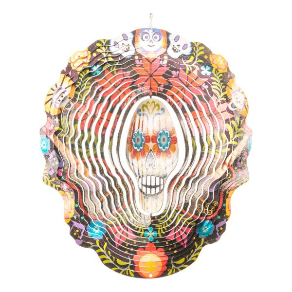 Mexican skull wind spinner 30cm