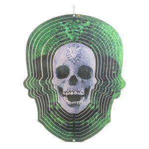 Green skull wind spinner 30cm