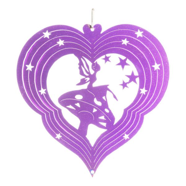 Purple fairy wind spinner 15cm