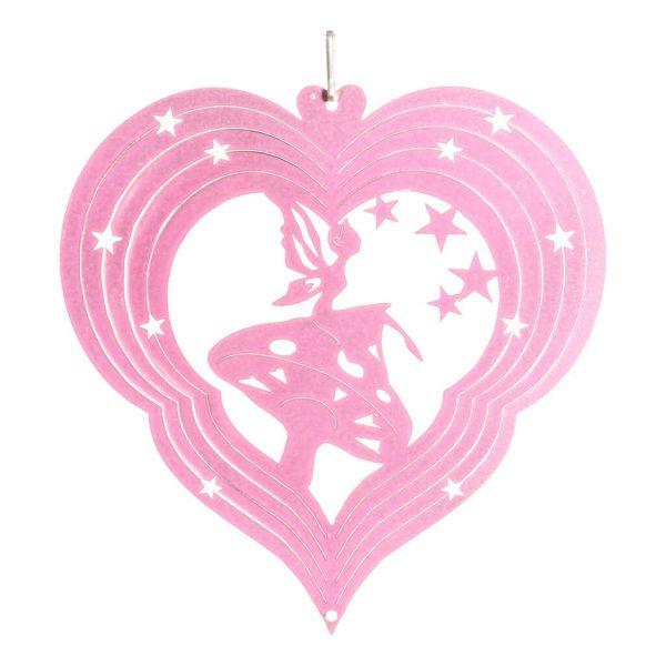 Pink fairy wind spinner 15cm