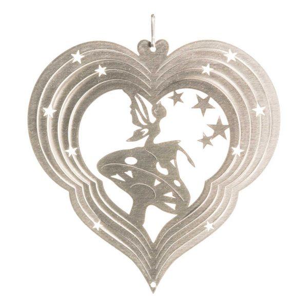 Silver fairy wind spinner 15cm