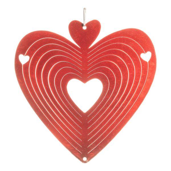 red heart wind spinner 15cm