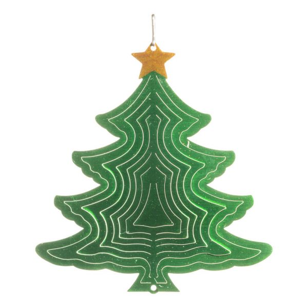 xmas tree wind spinner 15cm