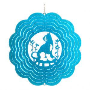 Blue cat wind spinner 15cm