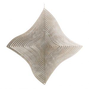 Silver diamond wind spinner