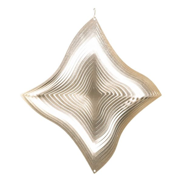 Silver diamond wind spinner