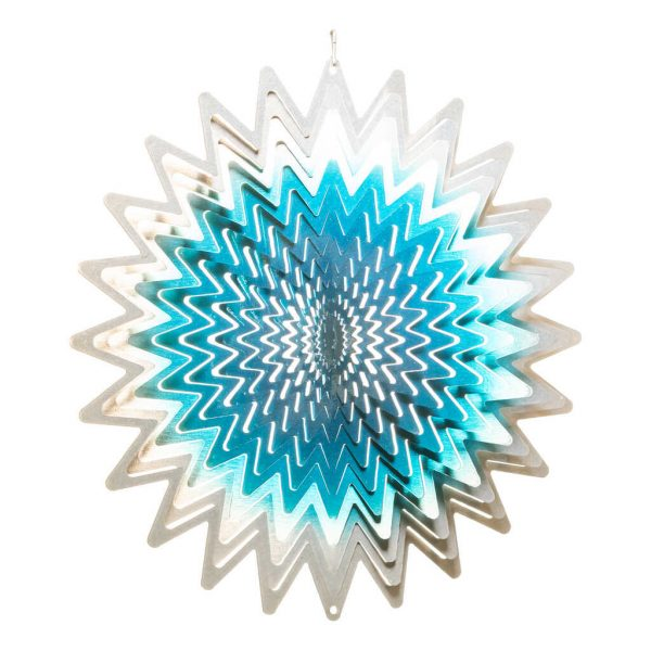 Blue star wind spinner 30cm