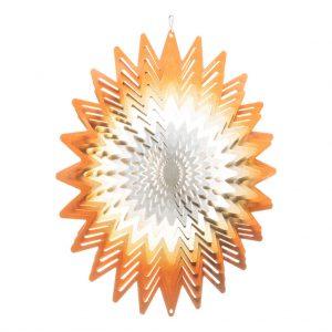 Orange star wind spinner 30cm
