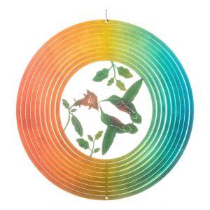 3D hummingbird wind spinner 30cm