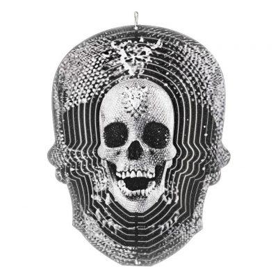 Black skull wind spinner 30cm