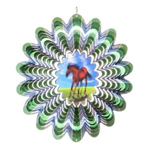Horse hologram wind spinner 30cm