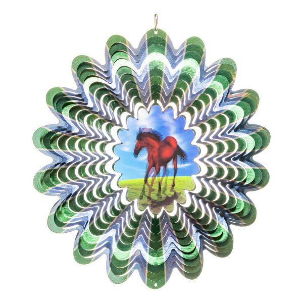 Horse hologram wind spinner 30cm