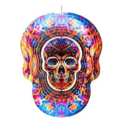 Fire skull wind spinner 30cm