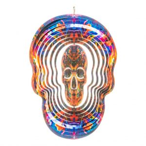 Fire skull wind spinner 30cm