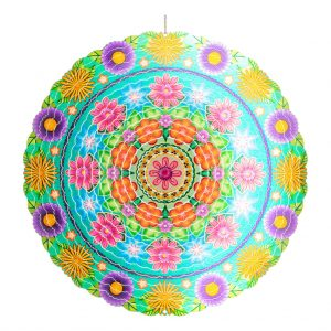 Mandala flower wind spinner 30cm